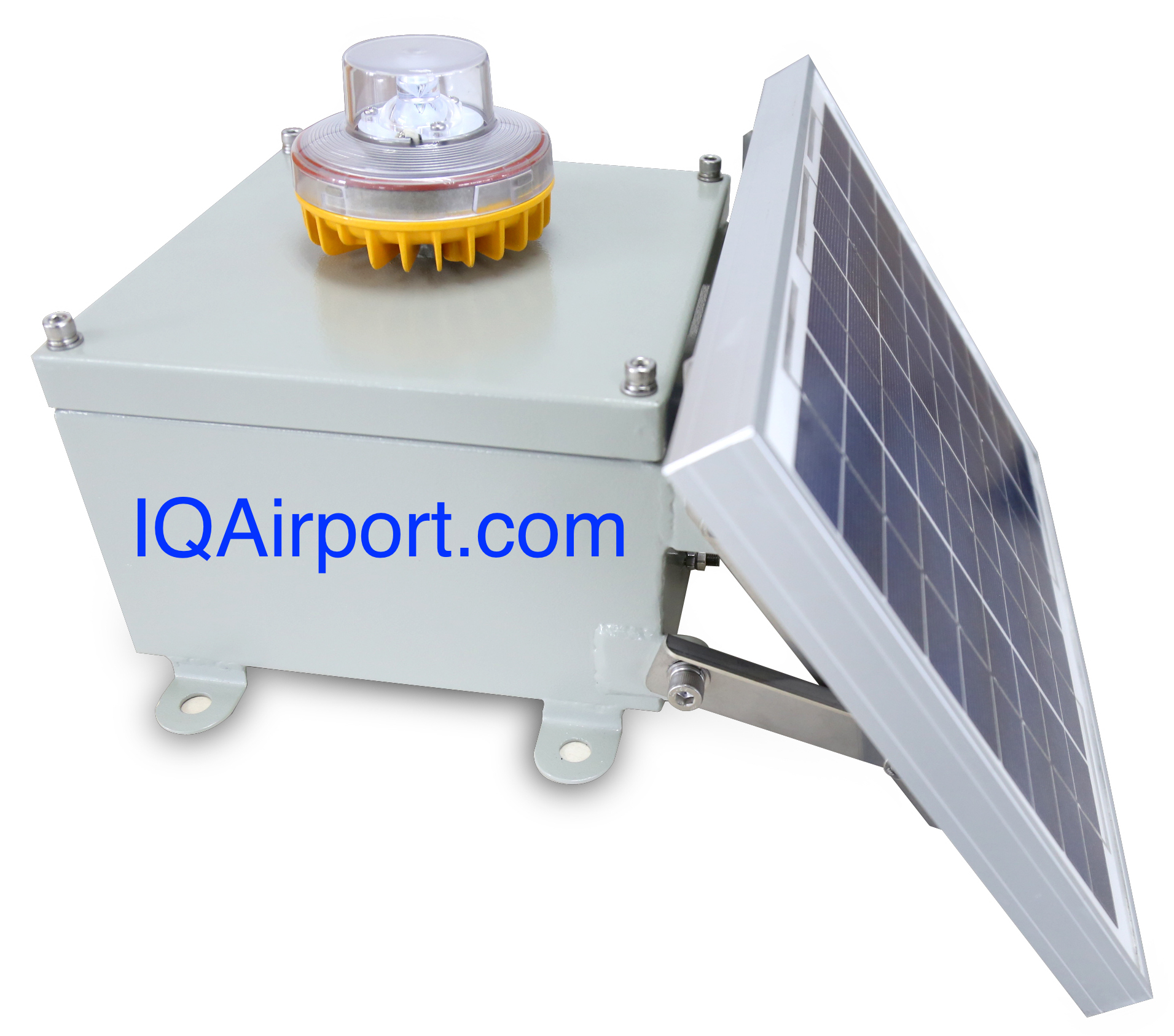 IQAirport.com Low Intensity Solar Aviation Obstruction Light