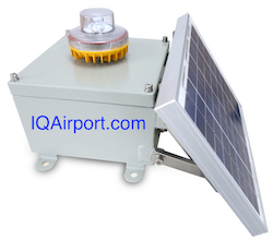 IQAirport.com Low Intensity Solar Aviation Obstruction Light : Low Intensity Solar Aviation Obstruction Light, Obstruction Lights, FAA Obstruction Tower Lighting, Tower Obstruction Lights, Aircraft Warning Lights Towers‎, Low intensity solar obstruction light for marking Towers (Telecom, GSM), Smokestacks (heat-engine plant, coking plant, chemical plant etc), Buildings, Port devise, Construction machinery, wind power generator etc for air traffic warning