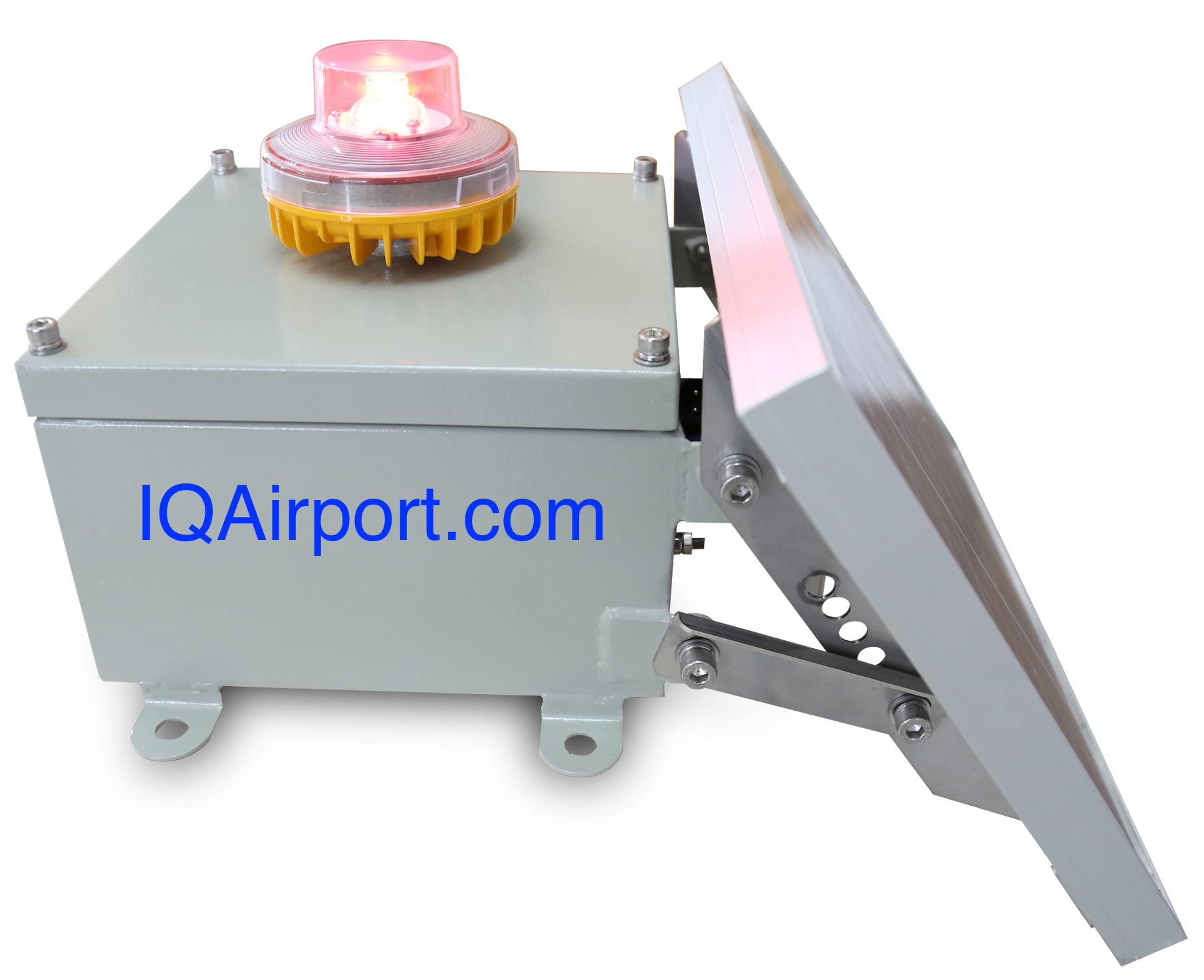 Solar Obstruction Light, Solar Powered Obstruction Light, LED Solar Aircraft Light, Solar Aviation Obstruction Lights, Solar Tower Obstruction Light for Night Marking Telecommunication Towers, Solar Crane Obstruction Light, Solar Powered Aviation Warning Lights
