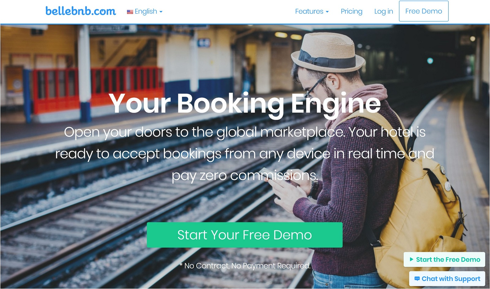 Bellebnb.com Hotel Booking Engine Commission Free!