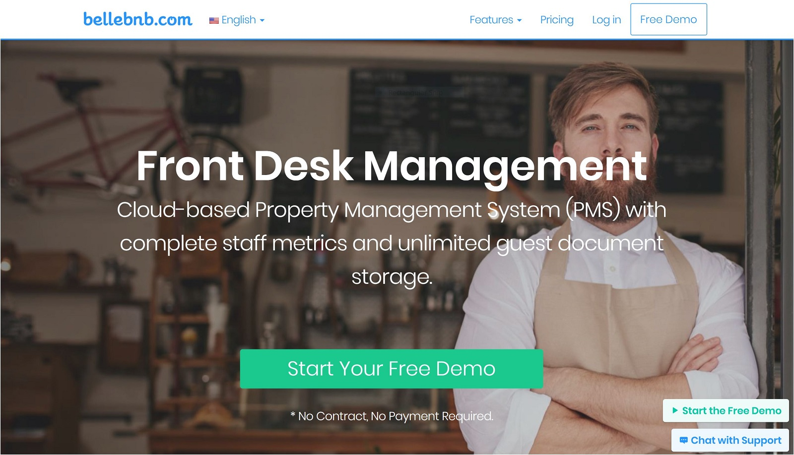Bellebnb com Hotel FrontDesk Management Software