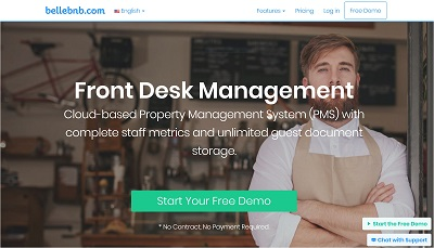 Bellebnb.com Hotel FrontDesk Management Software : Hotel FrontDesk Management Software