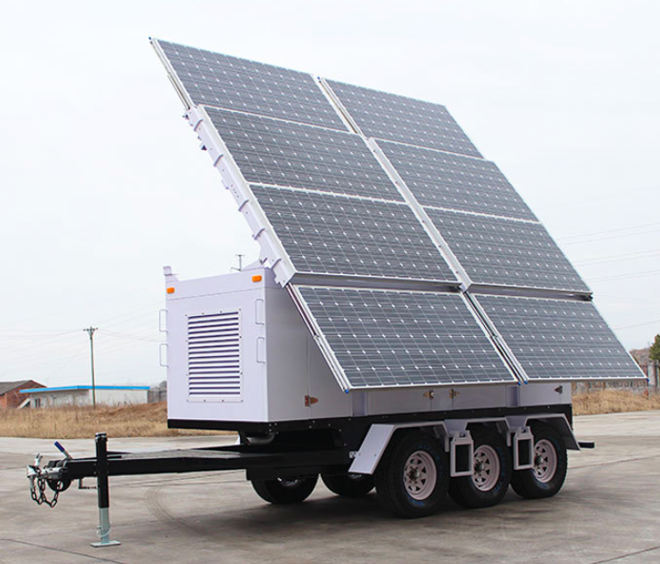 IQMilitary.com Military Solar Trailer for War Zone Military Generators