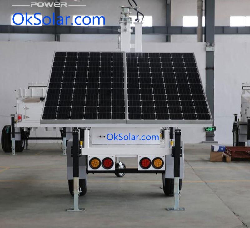Light Tower Baseball Training: OkSolar.com Solar Trailer