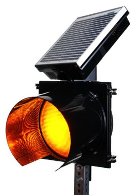 IQTraffiControl.com Solar 24 Hour Flashing Light Yellow 12 inches
