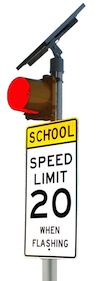 IQTraffiControl.com Solar School Zone Flasher RED : Solar School Zone Flasher RED