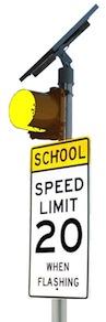 IQTraffiControl.com Solar School Zone Flasher Yellow : Solar School Zone Flasher Yellow