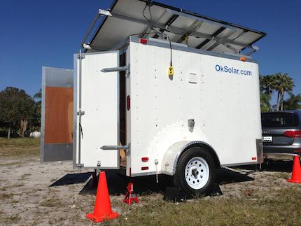 OkSolar.com Solar Trailer Generator for Refugees Camps