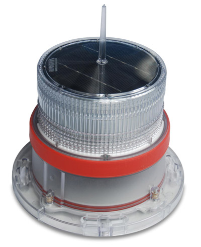IQAirport.com Solar Marine Navigation Light RED Up to 3 Nautical Miles Visible Range