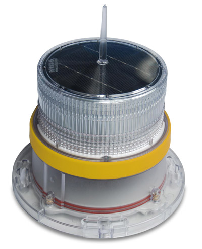 IQAirport.com Solar Marine Navigation Light Yellow Up to 3 Nautical Miles Visible Range