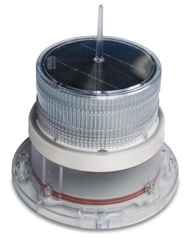 IQAirport.com Solar Marine Navigation Light White Up to 3 Nautical Miles Visible Range