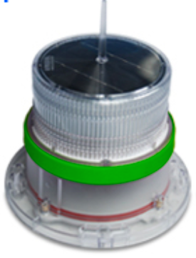 IQAirport.com Solar Marine Navigation Light Green Up to 3 Nautical Miles Visible Range