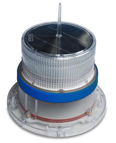 IQAirport.com Solar Marine Navigation Light Blue Up to 3 Nautical Miles Visible Range