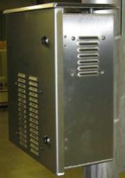 OkSolar.com Solar Battery Enclosure Aluminum : Solar Battery Enclosure Aluminum 1 (one) Battery Group 31, Enclosure Wall Pole Mount Nema