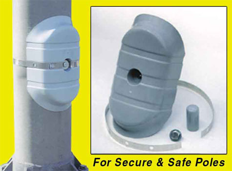 OkSolar.com Security Cover for Lighting Poles