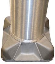 OkSolar.com Aluminum Light Poles 25 foot Round Tapered : Aluminum Light Poles 25 foot Round Tapered