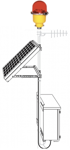 IQAirport.com Solar Powered Obstruction Light FAA approved L-810 LED Single Fixture