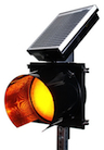 IQTraffiControl.com Solar 24 Hour Flashing Light Yellow 8 inches : Solar 24 Hour Flashing Light Yellow, Solar 24 Hour Flashing Beacon 8 inches