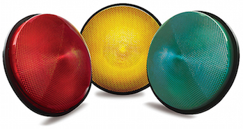 IQTraffiControl.com Traffic Signal LED Module 8 inches Yellow 12-24VDC