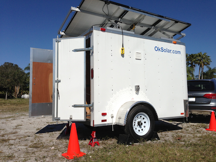 OkSolar.com Solar Military Trailer Generator for Refugees Camps, Disaster Preparedness & Recovery.