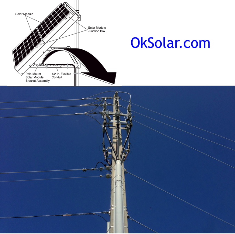 OkSolar.com Power Lines Solar Trees 4Kw Daily