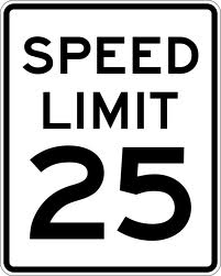 IQTraffiControl.com Speed Limit Signs 25