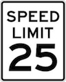 IQTraffiControl.com Speed Limit Signs 25 : Speed Limit Signs 25