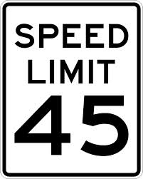 IQTraffiControl.com Speed Limit Signs 45