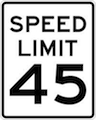 IQTraffiControl.com Speed Limit Signs 45 : Speed Limit Signs 45