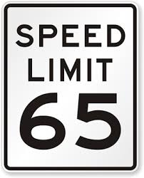 IQTraffiControl.com Speed Limit Signs 65