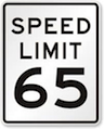 IQTraffiControl.com Speed Limit Signs 65 : Speed Limit Signs 65