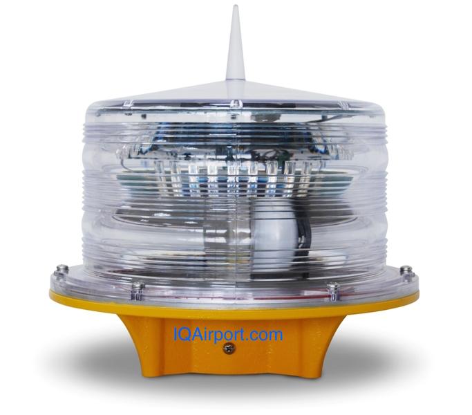 IQAirport.com Solar Obstruction Lighting for Wind Turbine Farms, Solar Crane Obstruction Light, Solar Powered Aviation Warning Lights