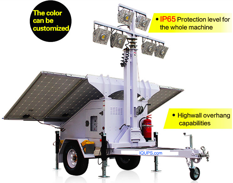 IQLED.com Solar Light Tower for Refugee Camps, Refugee Camps Solar Light Tower, Disaster Relief Solar Light Tower