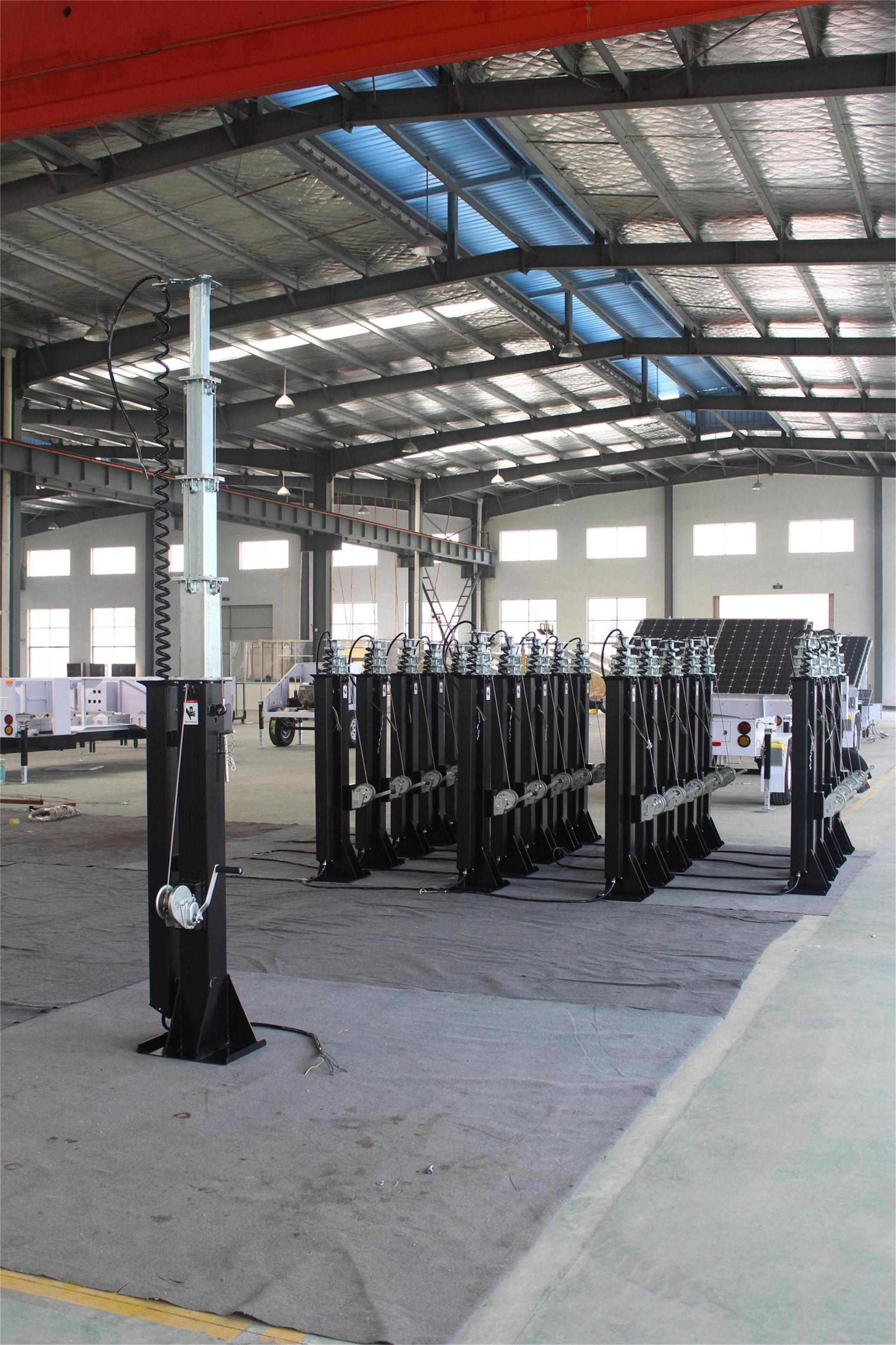 Telescopic Mast Pole, Solar Light Tower, Light Tower, Refugee Camps Solar Light Tower, mobile light towers, Job Site Solar Light Tower, Portable Solar Light Towers, Solar Powered Construction Light Tower.