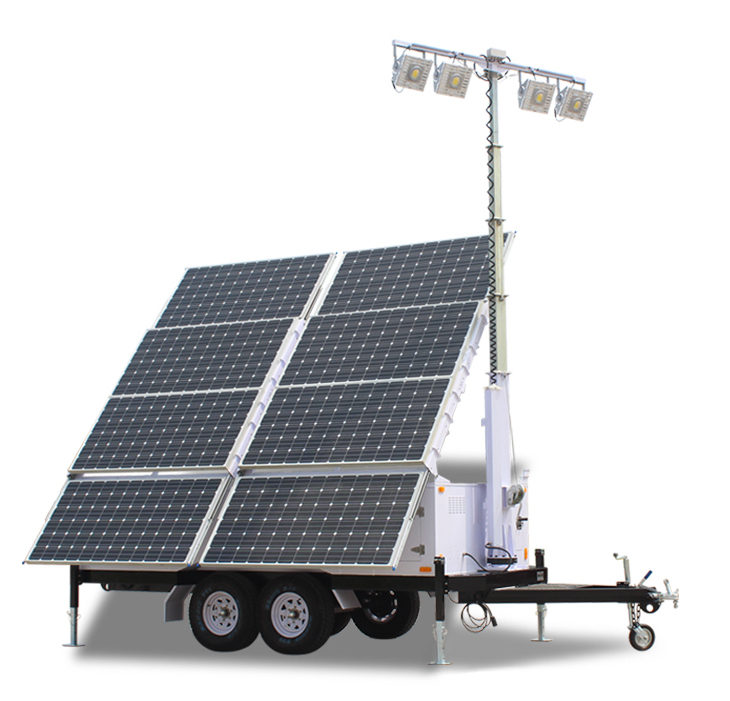 IQUPS.com Solar Light Tower 57.6 Kwh