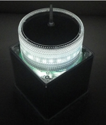 IQAirport.com White Solar Obstruction Light - ICAO Aircraft Warning Lights