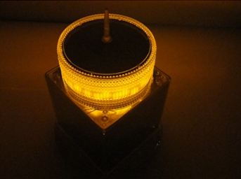 IQAirport.com Yellow Solar Obstruction Light - ICAO Aircraft Warning Lights
