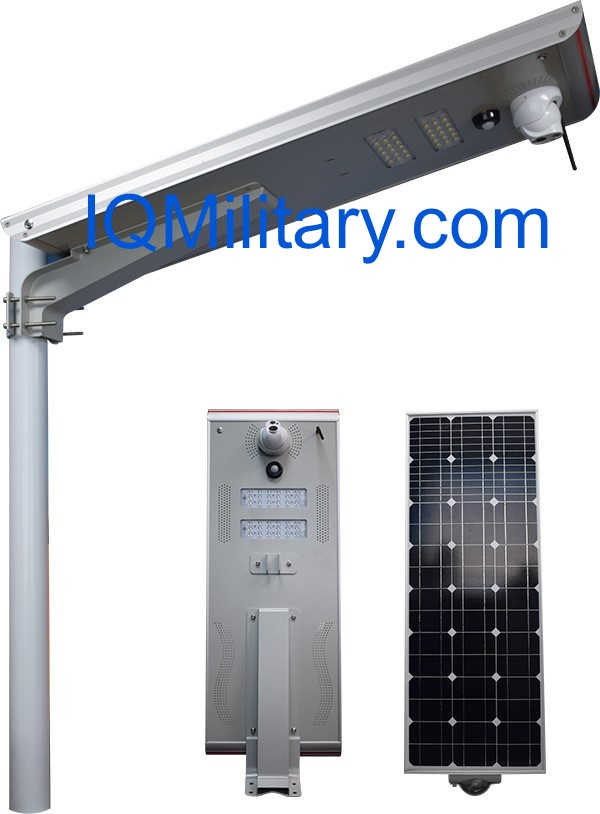IQMilitary.com Solar Lights with CCTV Camera, Motion sensor, Sim Card GPS, and 32,64, 128 GB TF Card
