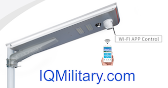 IQMilitary.com Solar Lights with CCTV Camera, Motion sensor, Sim Card GPS, and 32,64, 128 GB TF Card : 30W Outdoor Solar Lights with CCTV Camera, Motion sensor, GPS, and SIM Card 32GB, 64GB, 128GB TF.