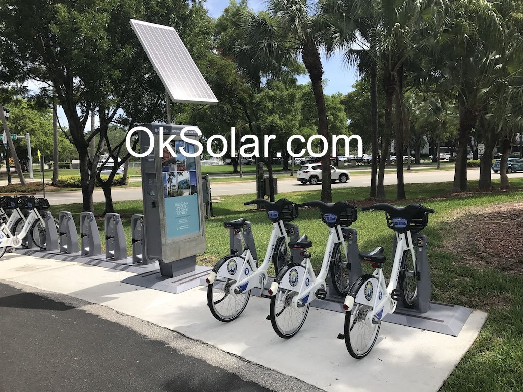 OkSolar.com Hotel Solar Charger for Electric Bikes