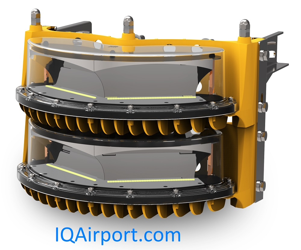IQAirport.com High Intensity Obstruction Light 2 Layer - FAA or ICAO - 120VAC, 230VAC, 48DC
