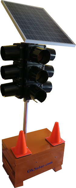 IQTraffiControl.com Solar Mobile Solar Traffic Lights with Wheels and Battery for 4-way Junction : Solar Mobile Solar Traffic Lights with Wheels and Battery for 4-way Junction, Solar Portable Emergency Traffic 4 Way LED Signal Light, Traffic Road Junction Solution
