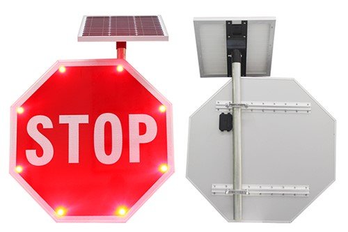 IQTraffiControl.com Solar BlinkerStop Flashing STOP Sign