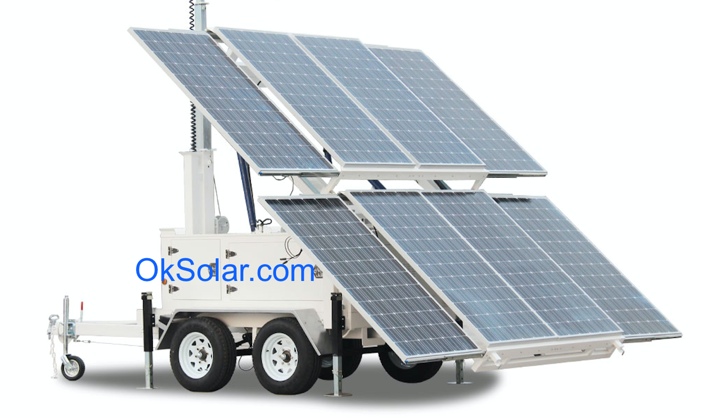OkSolar.com Solar Portable Supply Trailer Mounted