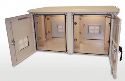 OkSolar.com Outdoor Enclosure 62H X 59W X 34D (66 RU) Double Bay