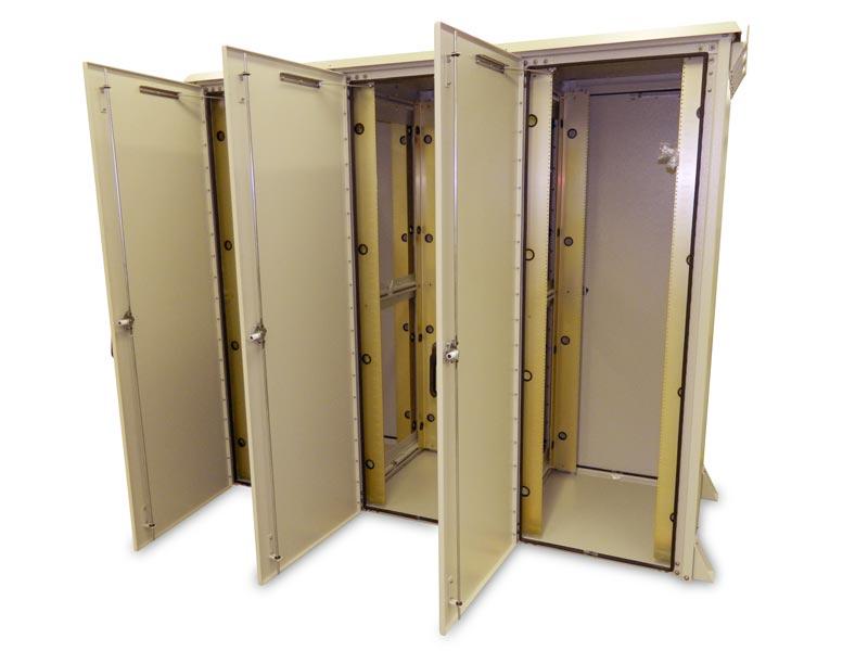 OkSolar.com Outdoor Enclosure 78H X 88W X 42D (126 RU) Triple Bay.