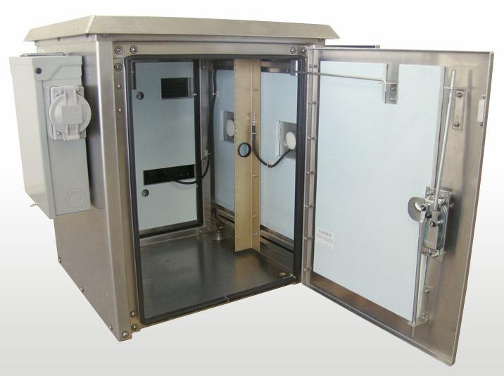 "OkSolar.com Enclosures 30""H x 25""W x 25""D Air conditioned"