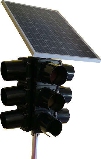 IQTraffiControl.com Solar-Powered Mobile Traffic Signal Stand Portable Traffic Signal Trailer 4 ways : Solar-Powered Mobile Traffic Signal Stand, Solar Portable Emergency Traffic 4 Way LED Signal Light, Traffic Road Junction Solution