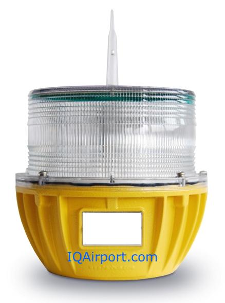 IQAirport.com Solar Taxiway Light  Yellow Solar Perimeter lights