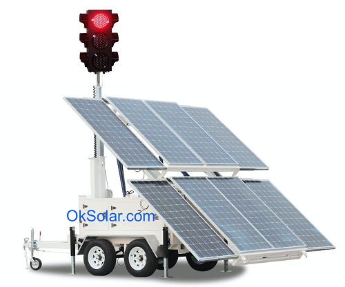 IQTraffiControl.com 4 way Solar Portable Traffic Light Controller Trailer Mounted | Solar 4-way Traffic Light Controller Portable Trailer Mounted : 4 way Solar Portable Traffic Light Controller Trailer Mounted | Solar 4-way Traffic Light Controller Portable Trailer Mounted | Solar-Powered Mobile Traffic Signal Stand, Solar Portable Emergency Traffic 4 Way LED Signal Light, Traffic Road Junction Solution